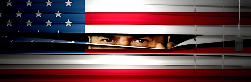 Patriot Act Spying Flag Government Surveillance