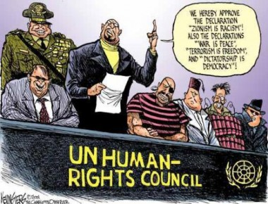 UNITED NATIONS-      Unhuman Rights Council-    where even USA refuses to sign WOMEN R EQUAL and children matter -education counts 4 allun-hrc-cartoon