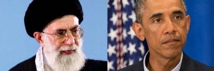 Iran's Supreme Leader Ayatollah Ali Khamenei gestures as he speaks to workers in Tehran