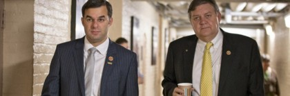 Rep. Justin Amash, R-Mich., left, tried and failed to block legislative language that he says blesses violations of Americans' rights.