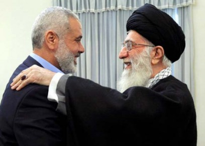 Iranian Supreme Leader Khamenei with Top Hamas official Ismail Haniyeh