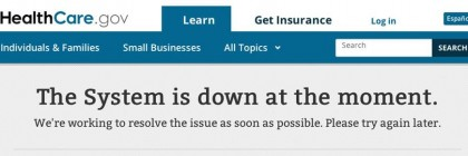 Obamacare Error Message