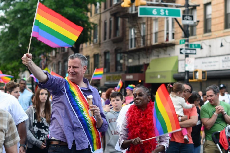 Bill de Blasio Gay Parade
