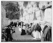 Jews praying at the Western Wall in Jerusalem in 1929