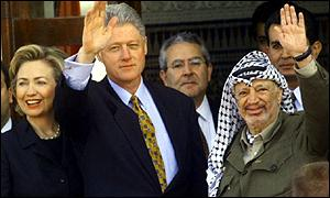 bill hillary clinton arafat