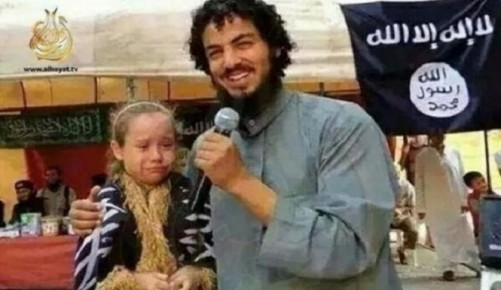 "Child rape is common in Muslim Arab countries. This Islamic State terrorist ""marries"" a 7 year old girl."