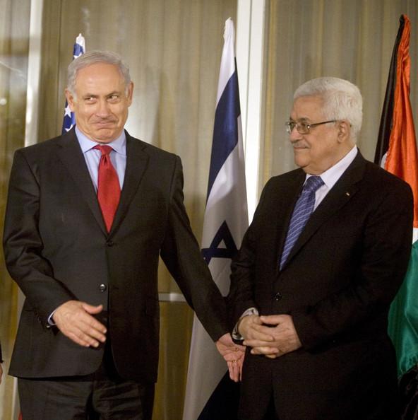 Mahmoud+Abbas+Benjamin+Netanyahu