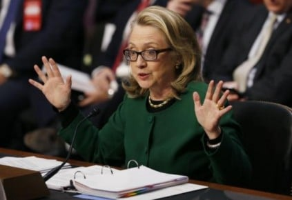 Hillary Clinton testifying on the Sept. 11, 2012, Benghazi attack