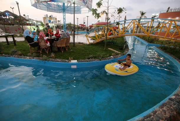Crazy Water Park in Gaza City