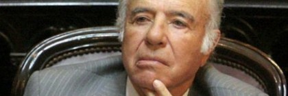 Former Argentine President Carlos Menem