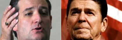 Ted Cruz (left) and Ronald Reagan