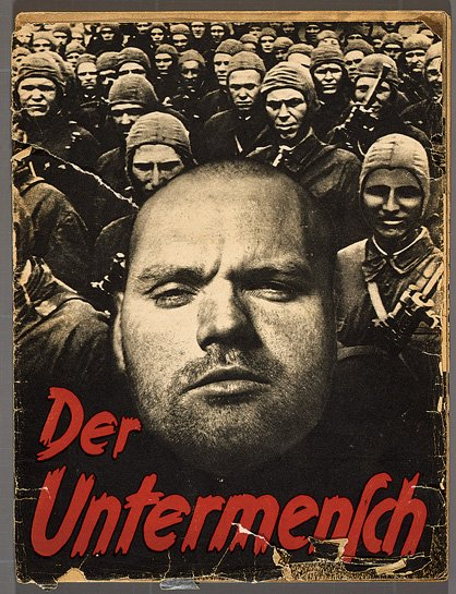 Photocollage cover of Der Untermensch (The Subhuman), a 52-page SS pamphlet that used images taken by the Associated Press (Deutsches Historisches Museum, Berlin)