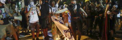 burning-israeli-flag-DNC