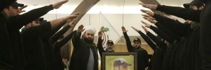 Hezbollah terrorists give Nazi salute