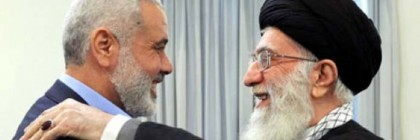 Iranian Supreme Leader Khamenei with Top Hamas official Ismail Haniyeh