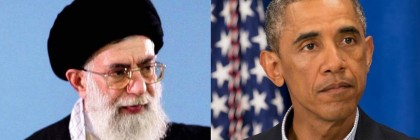 Iran's Supreme Leader Ayatollah Ali Khamenei and Obama
