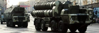 File photo of Russian S-300 anti-missile rocket system moving along a central street during a rehearsal for a military parade in Moscow
