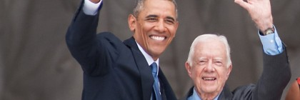 President Barack Obama, former President Jimmy Carter Anniversary of March on Washington