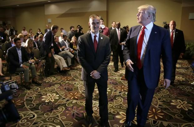 Donald Trump with campaign manger Corey Lewandowski