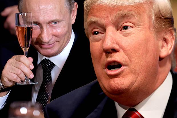 Vladimir Putin and Trump