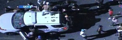 charlotte-police-shooting-black-riots-police-car