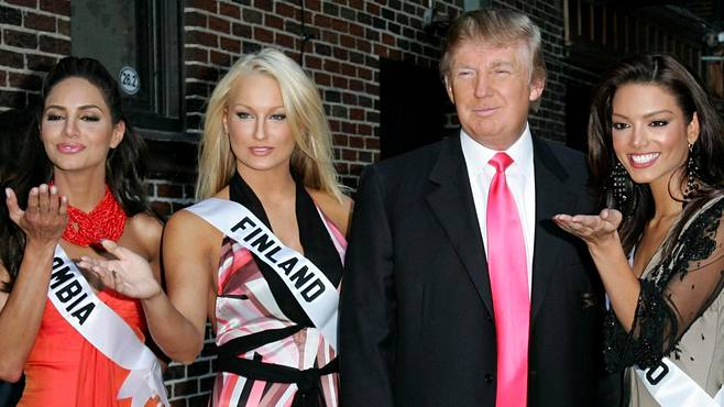 Ninni Laaksonen was Miss Finland pictured here with Donald Trump.