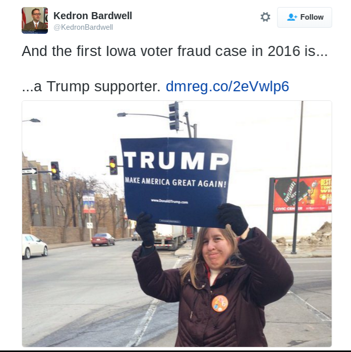 Trump Supporter Voter Fraud